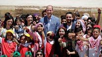 Prince William meets refugee children