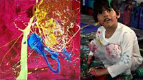 The four-year-old selling art for thousands