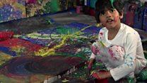 Resimleri binerce dolara satılan 4 yaşındaki 'sanat dehası'