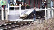 Trespass selfies see rail crossing close