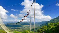 The man who gave up his job to teach trapeze in the jungle