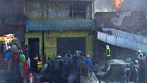 Aftermath of Kenya market blaze