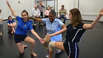 Dance class unites children and elderly