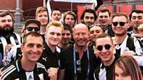 Russian Toon fans meet Alan Shearer