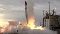 Rocket crashes down to earth in Japan