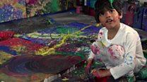 O artista de 4 anos que já vende quadros por milhares de dólares