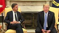 Rutte interjects as Trump talks EU deal