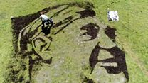 BGT artist draws Bevan on mountainside