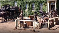 Town transformed into period drama set