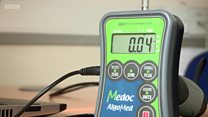 The device that measures a person's physical pain threshold