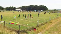 Primary schools hold World Cup in Cornwall