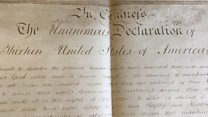 Declaration of Independence document found