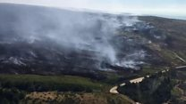 Ecosystems wiped out by moorland fires