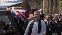 The funeral of Raymond Burrows