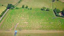 Giant maze celebrates 70 years of NHS