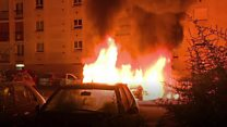 Cars set ablaze in Nantes clashes