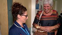 Ex-midwife shares her 70th with NHS