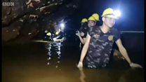 ดูการทำงานของทีมกู้ภัยภายในถ้ำหลวง