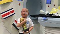 Harry Kane boy wins bravery 'World Cup'