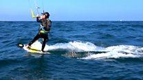 Teenager 'breaks kitesurfing record'