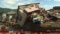 ဂျပန် ရေကြီး မြေပြိုမှု လူ ၁၀၀ ကျော် သေဆုံး