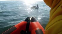 Stranded kayaker rescued from currents