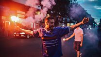 Tear gas fired at French football fans