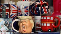 Trump's UK visit: Protests and praise