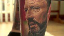Dons fan gets Derek McInnes tattoo on leg