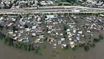 Как выглядит потоп в Забайкалье: видео с дрона