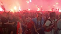 Croatia fans celebrate World Cup semi-final win