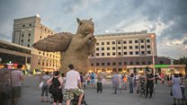 Time lapse: Huge squirrel in Almaty
