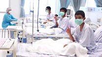 Tayland'da mağaradan kurtarılan çocukların hastaneden ilk görüntüleri