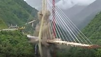 Colombian motorway bridge demolished