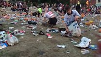 England fans clean up Sheffield big screen site