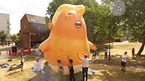 Надувной Трамп протеста: британцы готовятся к визиту президента США