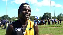 The Aboriginal players hooked on 'fast footy'