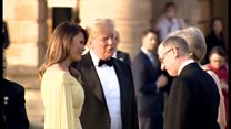 トランプ米大統領が訪英 ブレナム宮殿で歓迎式典に出席