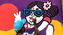 Mumbai slum gets colourful makeover