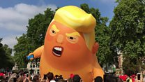 Trump baby blimp launched in London