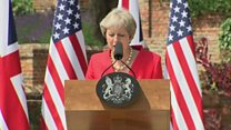 May on 'ambitious' US-UK trade plans
