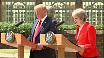 May and Trump positive on trade after Brexit