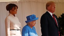Moment President Trump meets the Queen