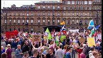 Anti-Trump protests in Glasgow