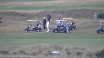 Trump hits the course at Turnberry