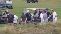 Trump booed at Turnberry