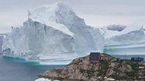 Iceberg threatens Greenland village