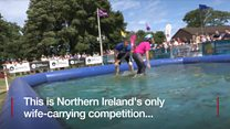 Wife-carrying race is hit at festival