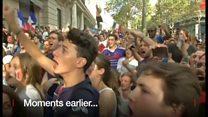 【サッカーW杯】歓喜のフランスと涙のクロアチア、試合後のサポーターたち