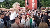 বিশ্বকাপ ২০১৮: ফাইনালের পর মস্কোর চিত্র